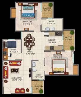 "2 BHK Flat with study Room in Raj Nagar Extension, Ghaziabad"""""""""""""""