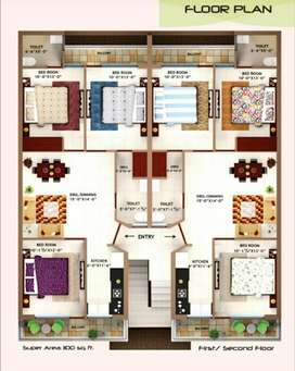 3bhk flat in 5 marlas for sale at kharar mohali  chandigarh highway