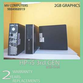 """^i5 3rd gen""""8gb ram""""500 hdd@graphic 2GB#2warranty replace HP*computers"""