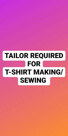 Tailor Required for Tshirt sewing