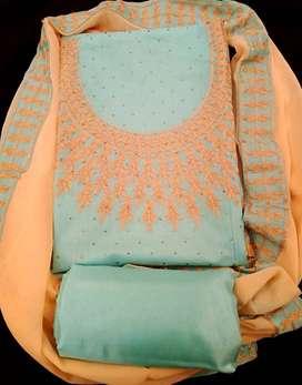 Traditional designer unstitched salwar kameez suit Holi festival Sale