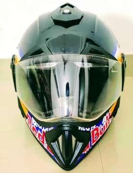 Off road styled graphics Helmet - VEGA REDBULL GRAPHICS