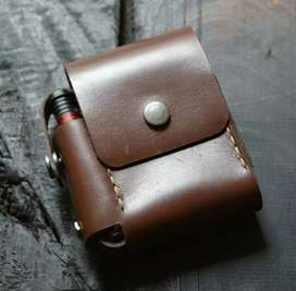 Leather cigarette case for export high quality
