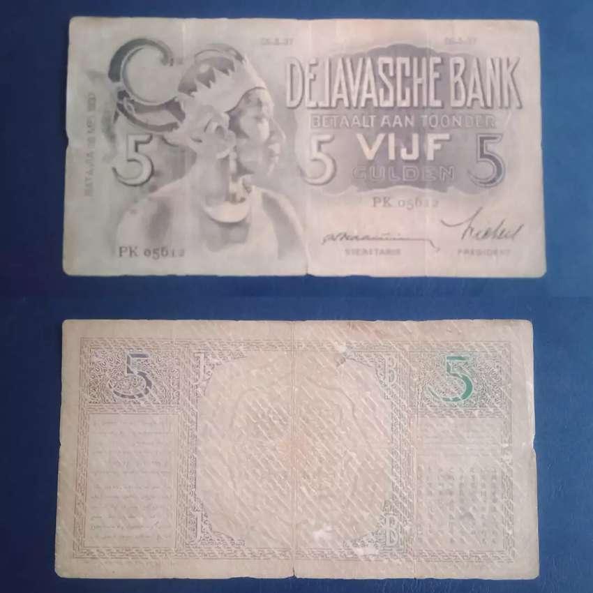 Uang kuno wayang 5 gulden