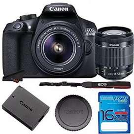 Canon 1300d Camera Dual Lens