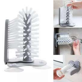 Glass Bottle Cleaning Brush Sink Suction Base Washer Tool Kitchen