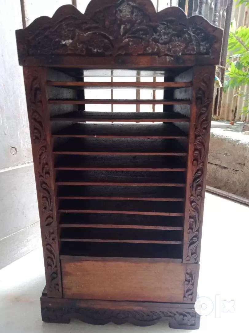 Antique CD storage box 0