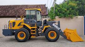 Jual Wheel loader merk WORLD,alat gelar,traktor,forklift,breaker