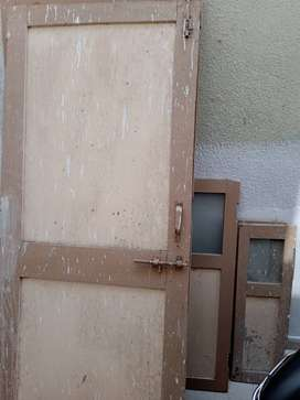 Wooden door and windows