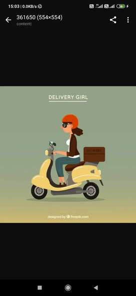 Delivery Girl (Hire Female Staff)