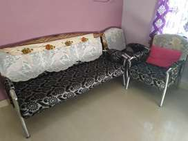 Steel arms sofa for sale