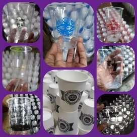 Sablon papper cup,printing papper cup gelas plastik