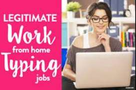 Fresher can Apply Data entry job data entry and typing work from home