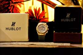 Hublot Luxury Big Bang Geneve Chronograph Wirst Watch Complete Box