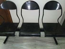 Sale karna hi hai - Heavy black colour three seater iron bench