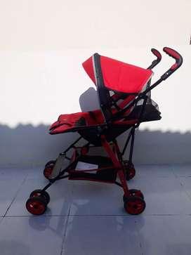 Stroller Pliko adventure Merah Bayi
