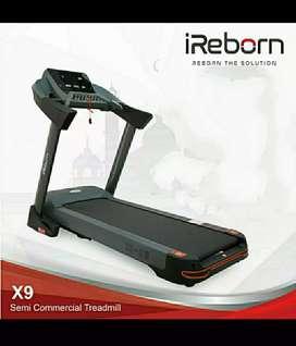 alat fitnes treadmill elektrik semi komersial x9 mewah