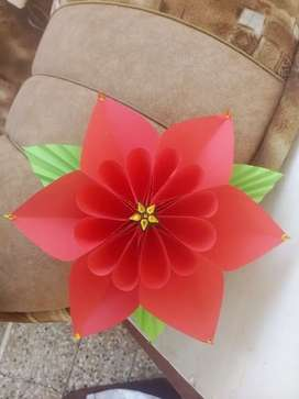 Crafting work wall hanging Flower made with excellent quality paper