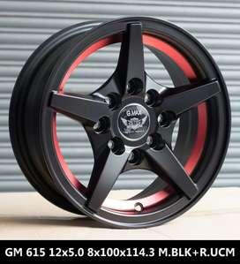 "12""-4*100/114.3 PCD Alloy wheels"
