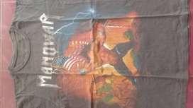 kaos band metal manowar vintage thailand