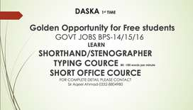 Just For DASKA Shorthand/STANOGRAPHER/TYPING/MS OFFICE-