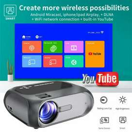 T8A WI-FI MIRACAST 1280P HD SMART HOME THEATER LED VIDEO PROJECTOR
