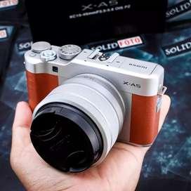 Fuji XA5 kit 15-45mm. Fullset. Mulus Sekali. Ex FFID. murah