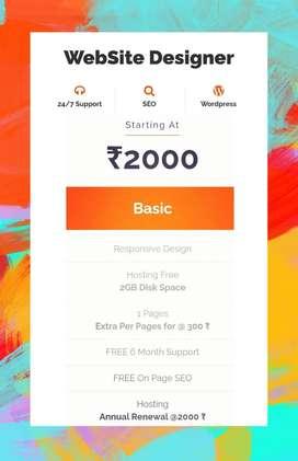 Any Website Designer at only 2000 Rupees