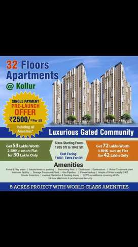World class amminities high rise appartments now at kollur