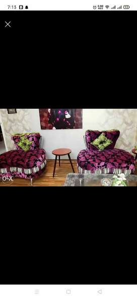 Printed five seater sofas