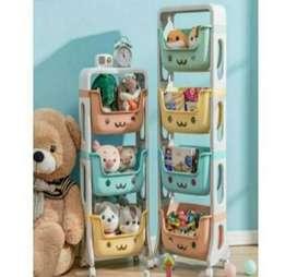 Rak Roda boneka mainan /stand hanger Tempat Penyimpanan Mainan Anak