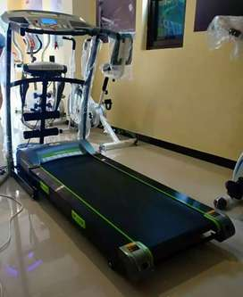 Treadmill  elektrik  Tl 130 dng  3 fungsi dan 2 dumble