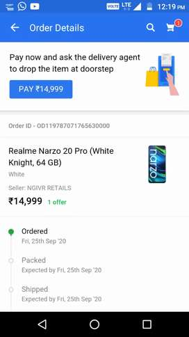 Realme 20pro seal pack