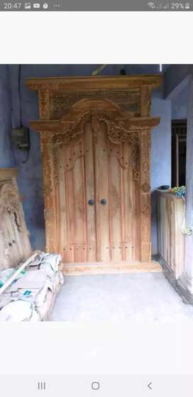 Gebyok gapuro pintu kusen ukuran 150x  250
