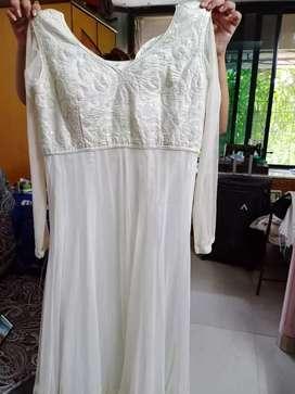 White one piece beautiful dress