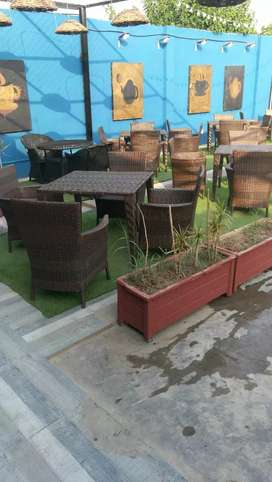 Slightly used best condition rattan  and imported plastic...