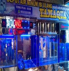 Depot air minum isi ulang partisi stainlees buatan Damisiu