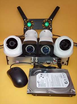 4 titik Camera CCTV Resolusi 5 MP lengkap pemasangan