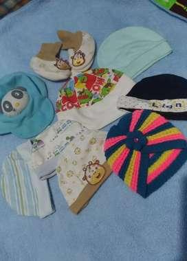 Take all topi & sepatu New born