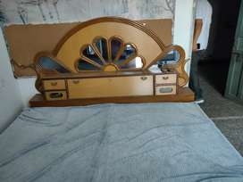 Wooden Double Bed and Dressing Table