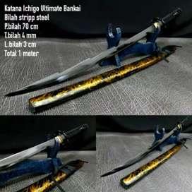 Pedang samurai ichigo bankai black edition