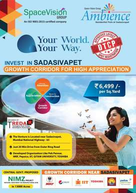 DTCP Approved open plots for sale at Sadasivapet