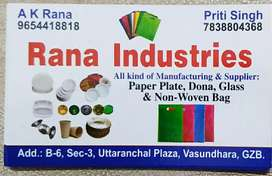 Paper plate Dona & Non Woven bags Manufacture & supplier
