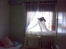 Jual box bayi dari kayu bonus kelambu dan alas tidur bagus