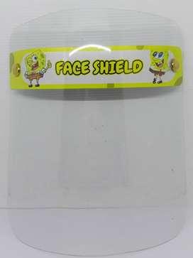 face shield anak buka tutup / face shield ecer