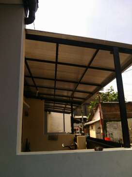 Pemasangan aneka atap canopi, spandek, alderon, poly carbonate