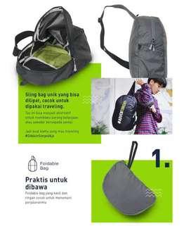 Tas Selempang Foldable Bag TORCH Fortaleza