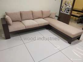 Wooden sofa available