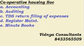 Co-operative housing soc accounting , audit , tds , tax compliance
