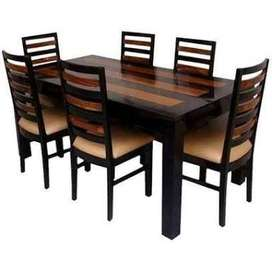 Sheaham wood and wooden top Dining table set